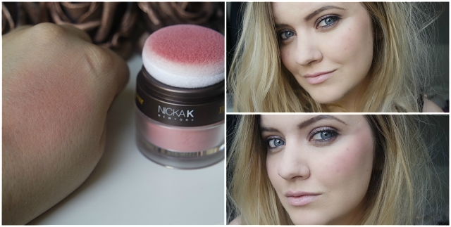 Nicka K Colorluxe Powder Blush in Mauve Rose Swatch & Review on http://emandhanxo.blogspot.co.uk/