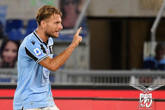 Menangkan Duel Lazio vs Cagliari, Immobile Kegirangan Bawa Lazio Amankan Tiket Liga Champions 2020-2021