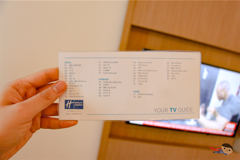 TV Guide of Holiday Inn Express, Philippines