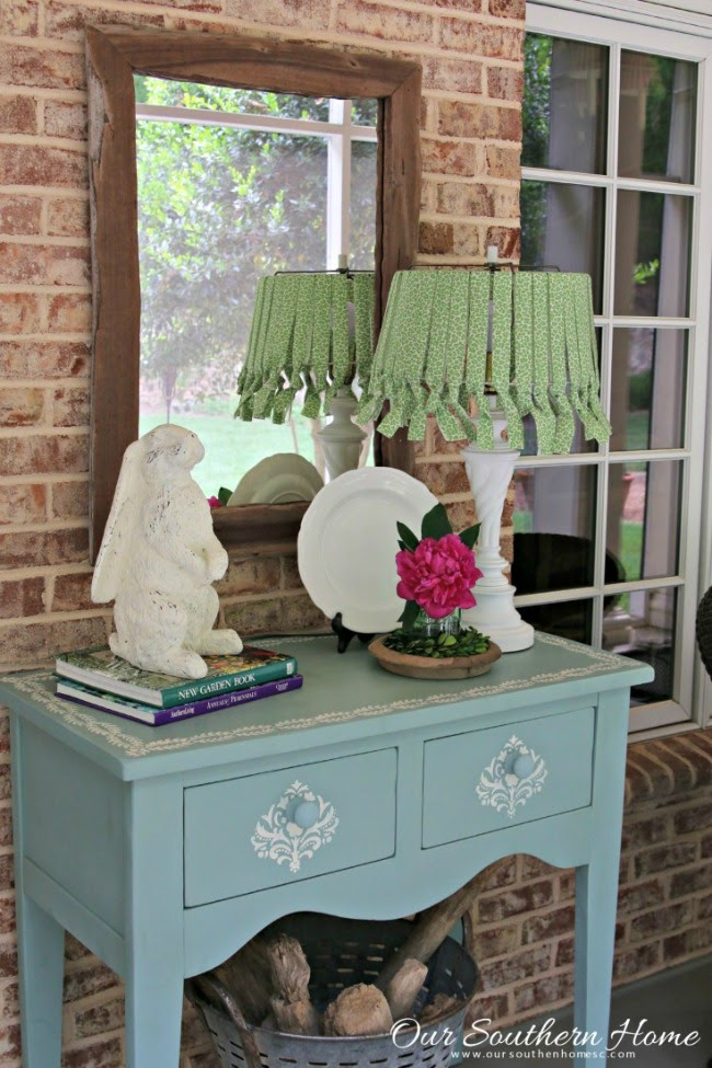 OUR SOUTHERN HOME | DIY NO SEW LAMPSHADE