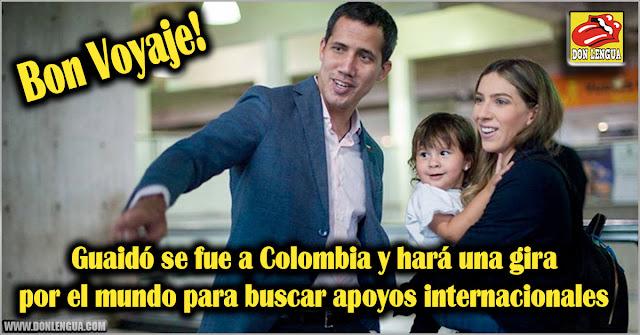 Guaidó se fue a Colombia y hará una gira por el mundo para buscar apoyos internacionales
