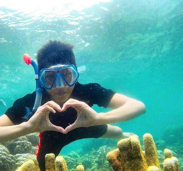 foto snorkeling di gili labak