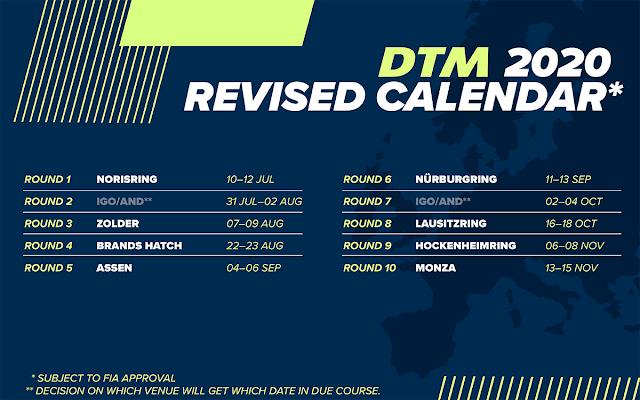 DTM Calendar 2021