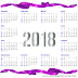 year 2018 Calendar template psd index file Printable free download