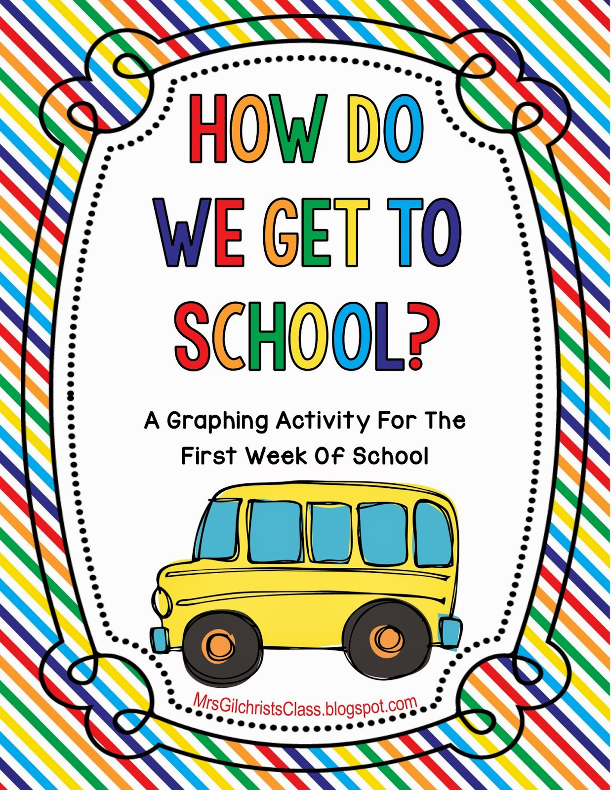 Back To School Freebie For The First Week Of School