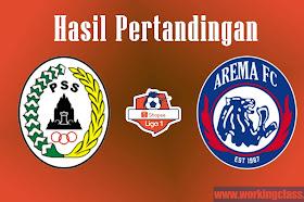 Hasil Shopee Liga 1 : PSS Sleman vs Arema FC