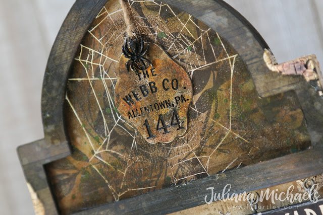 Beware The Witches Kitchen Halloween Mixed Media by Juliana Michaels featuring Tim Holtz products