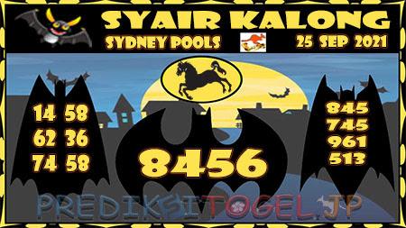 Prediksi Togel Kalong Sidney Sabtu 25 September 2021