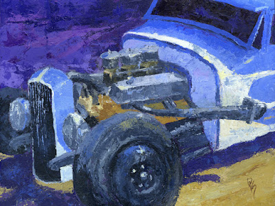 car hot rod model a Ford engine horsepower painting art automotive