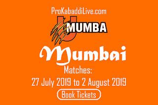 Mumbai Kabaddi Tickets Booking | Pro Kabaddi Mumbai Tickets Booking