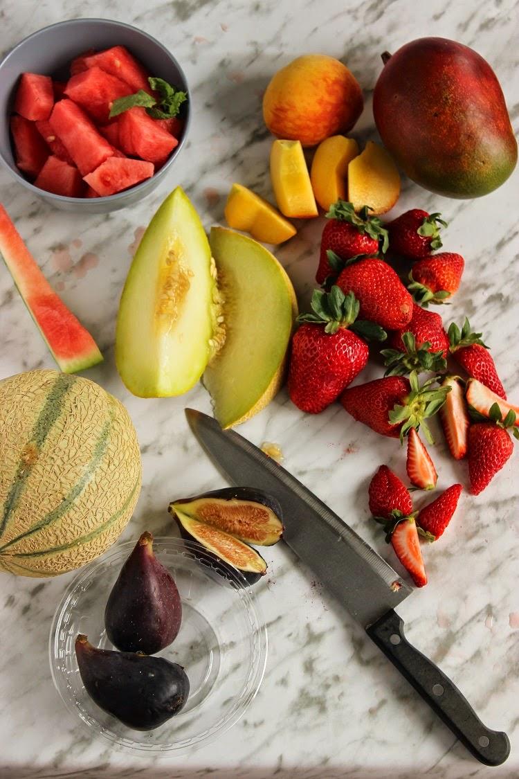 Ensaladas con fruta