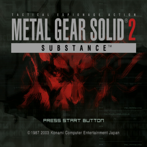 Metal Gear Solid 2 substance title screen playstation 2 PAL