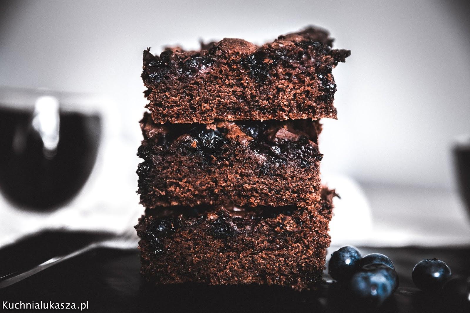 brownie z borowka amerykanska - przepis