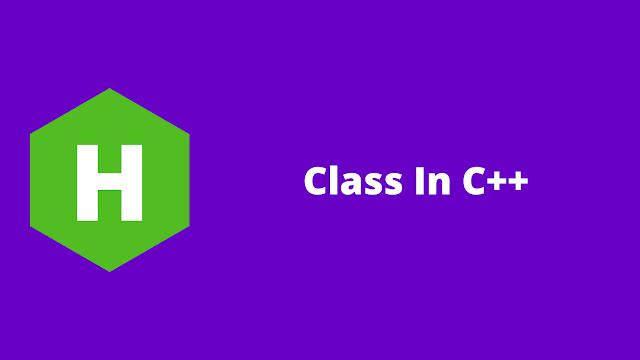 HackerRank Class in C++ problem solution