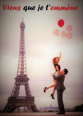 Couple amoureux dans une photo romantique à Paris