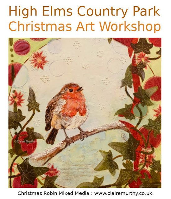 Art Workshop Christmas Robin Kent London