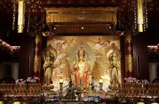 Templo y Museo de la Reliquia del Diente de Buda. o Buddha Tooth Relic Temple and Museum, Chinatown, Singapur o Singapore.
