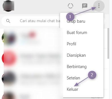 Cara Logout WhatsApp Web di Komputer