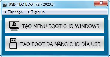 Tạo usb boot uefi, legacy