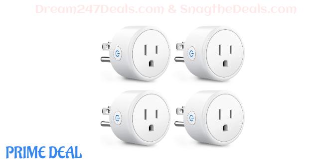 30%OFF alexa smart plugs 4 pack