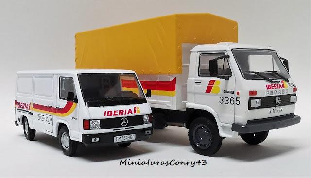 Pegaso Ekus y Furgoneta Mercedes-Benz de IBERIA