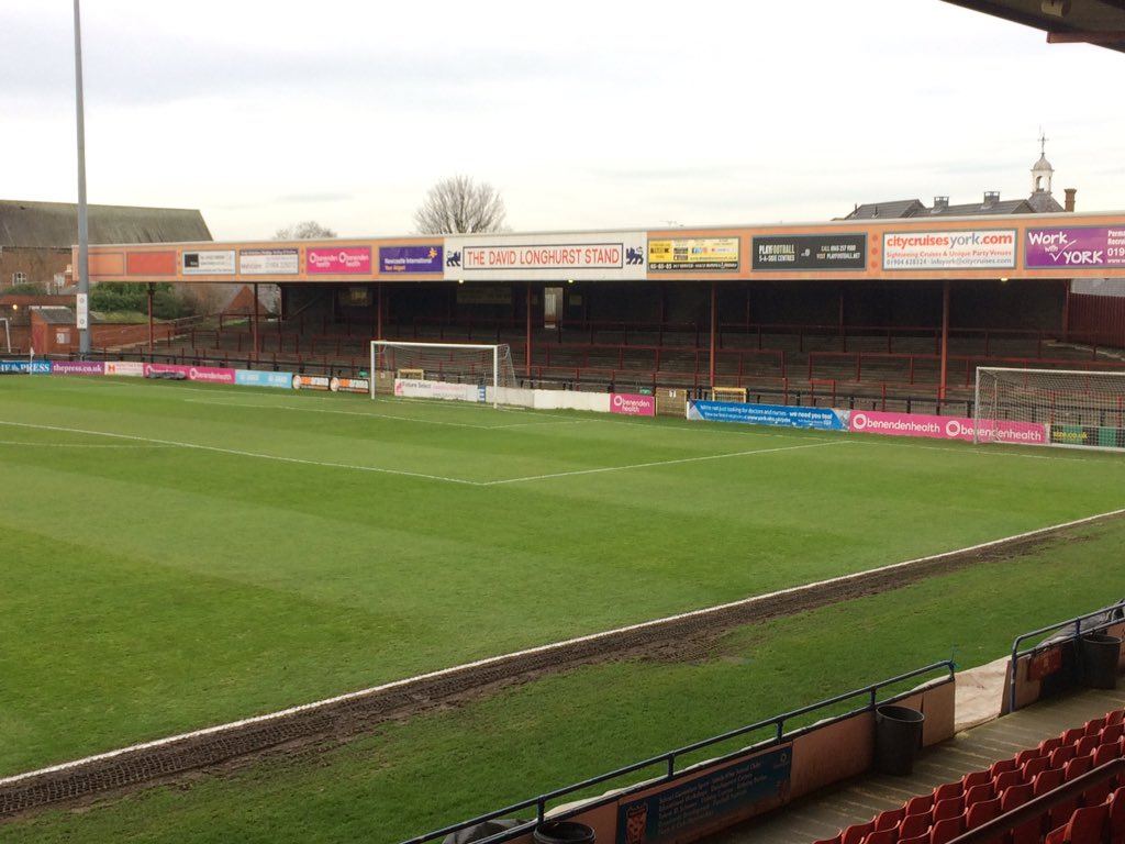 Nick Pope buys set of goalposts in York City auction