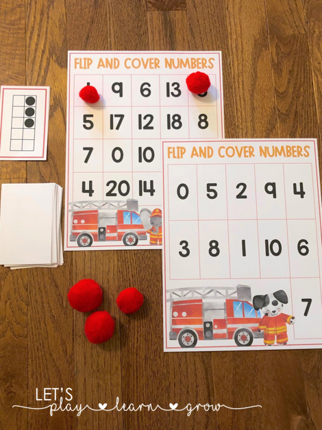 Practice subitizing and number recognition with this fun flip and cover numbers activity