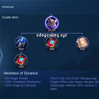 penjelasan lengkap item mobile legends item necklace of durance