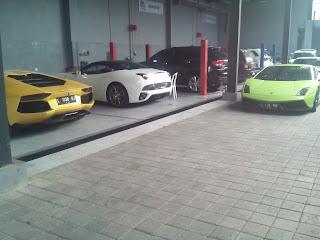 Ferrari dan Lamborghini Tour di Bali september tahun lalu (2015)