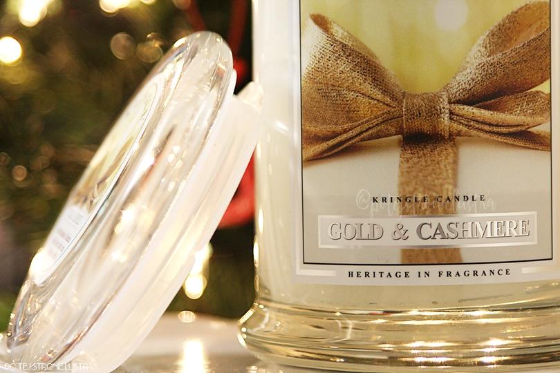 etykieta świecy kringle candle gold & cashmere