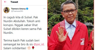 Gubernur Sulsel Ditangkap KPK, Dulu Tsamara PSI Puja Puji Bilang Si Nurdin Tokoh Anti Korupsi