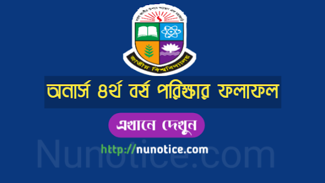 Honour 4th year Results 2019