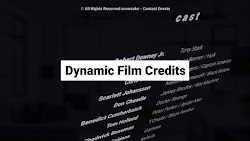 Dynamic Film Credits | After Effects Project Files | Videohive 23822035 - Free download