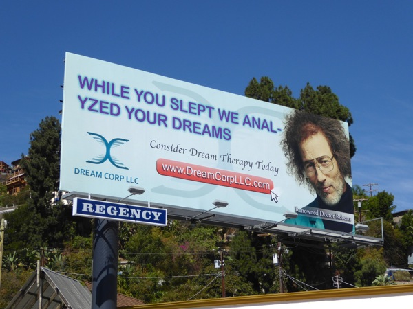 Dream Corp LLC While you slept anal-yzed dreams billboard
