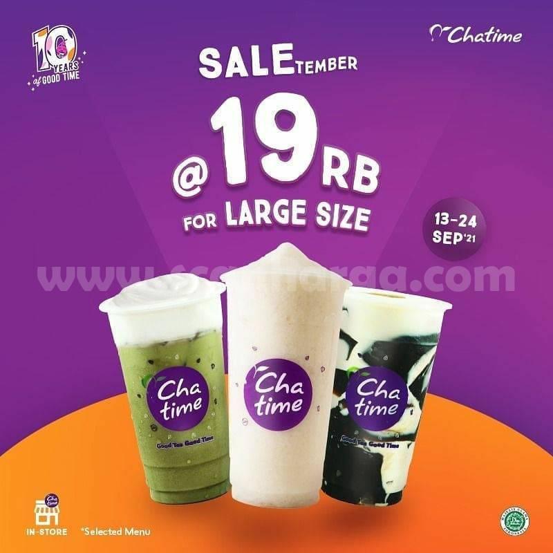 PROMO CHATIME SALETEMBER – Beli Chatime Large cuma Rp. 19.000