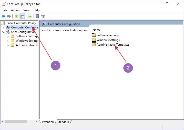 windows-10-group-policy-windows المكونات