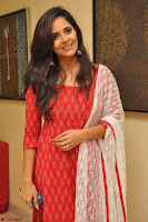 Anusuya in Red at Kalamandir Foundation 7th anniversary Celebrations ~  Actress Galleries 011.JPG