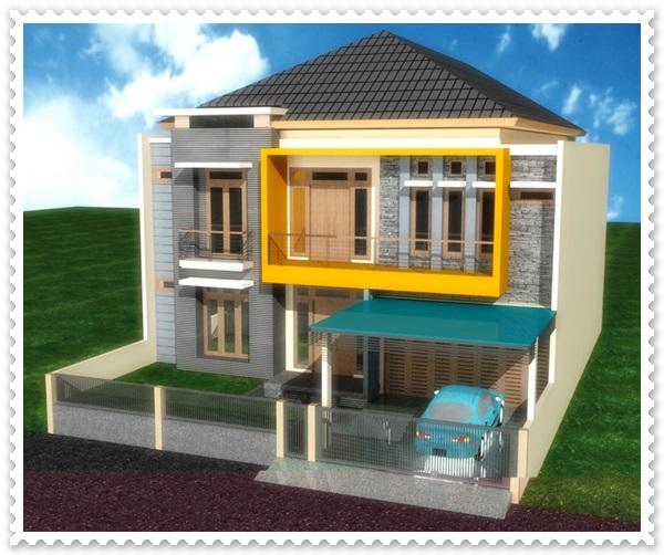model perumahan minimalis 2 lantai
