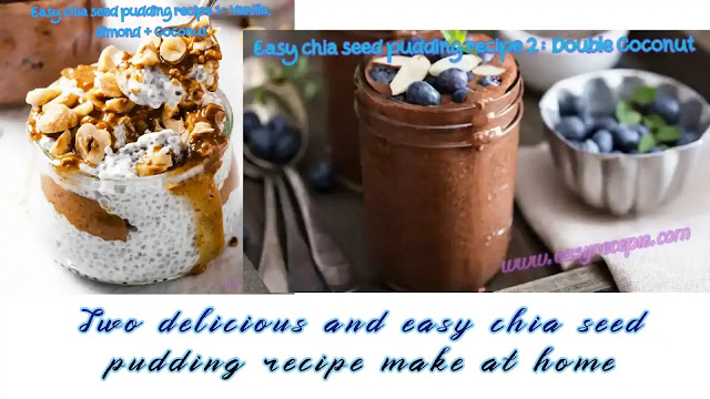 Two delicious and easy chia seed pudding recipe make at home