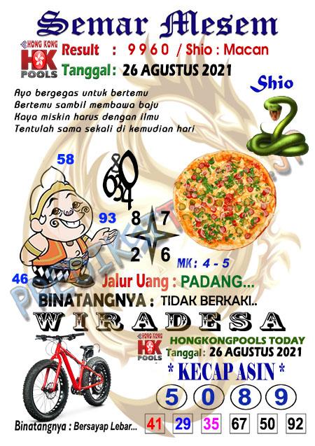 Syair Semar Mesem HK Malam Ini 26-Agt-2021