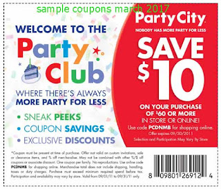 Party City coupons march