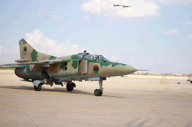 LIBYAN AIR FORCE MIG-23 CRASHED, BOTH PILOTS KILLED
