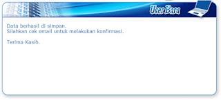 notifikasi e-billing dikirim via email