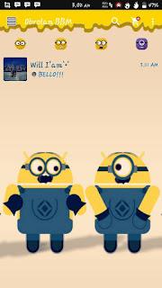 BBM MINION V2.12.0.9 APK Terbaru 2016