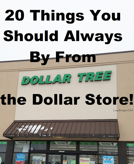 20 things to buy at the dollar store to save money