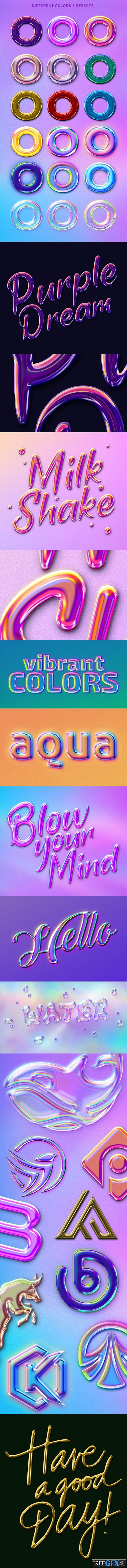Glossy Holographic Text & Logo Effects