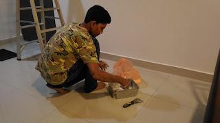 Warih Homestay - Bancuh Serbuk Plaster Ceiling
