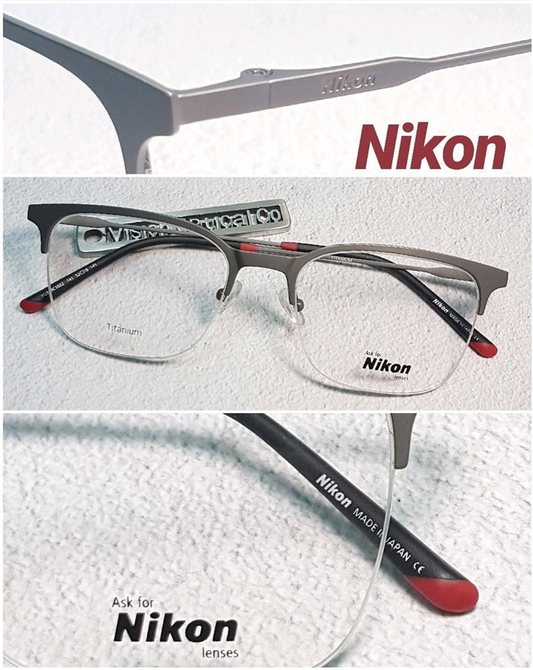 Nikon NC1022 鈦金屬方形半框眼鏡