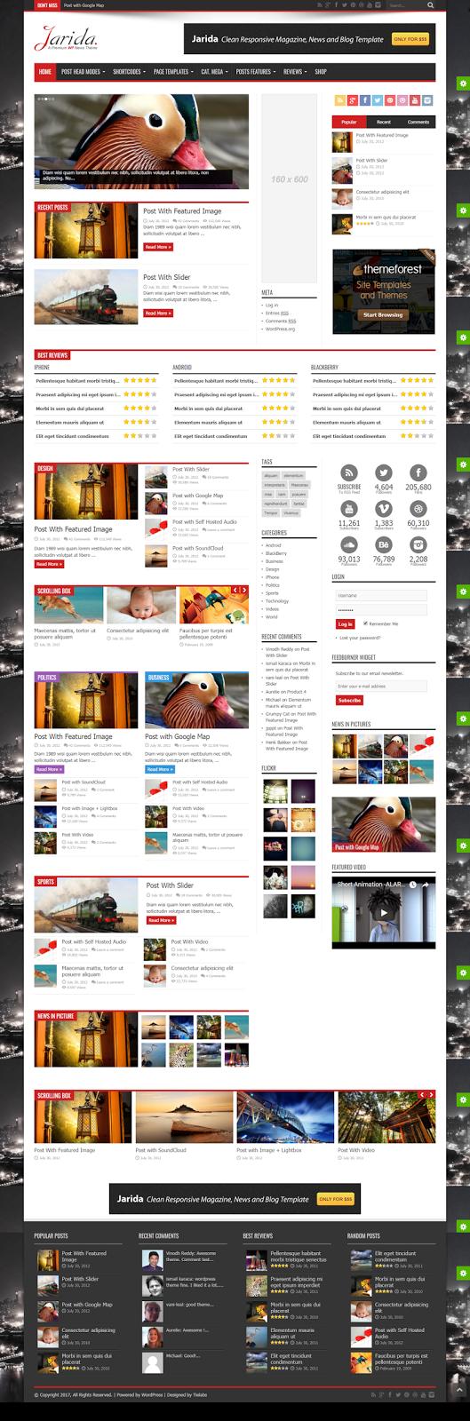 News Magazine  Responsive WordPress