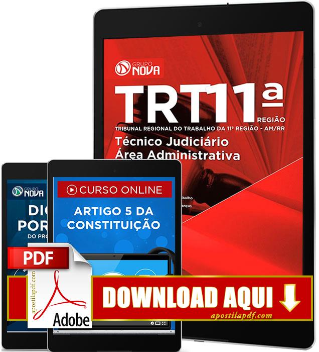 Apostila TRT AM 2016 PDF Download Técnico Judiciário Área Administrativa